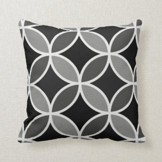 Abstract Urban Floral Throw Pillow
