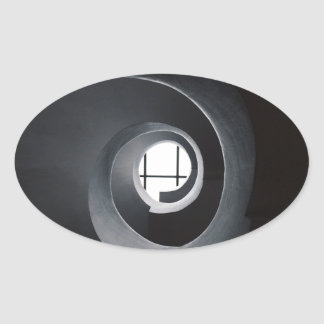 Abstract urban oval sticker