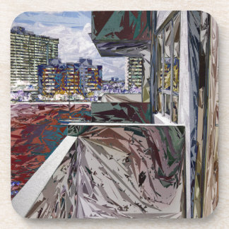 Abstract Urban Structure Beverage Coasters