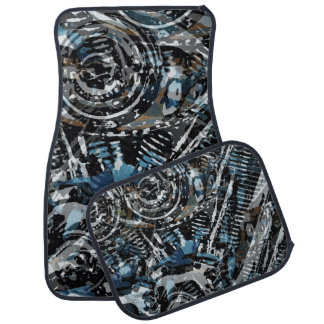 Abstract V-Twin Car Mat