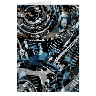 Abstract V-Twin Card