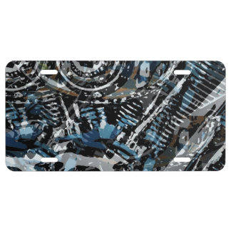 Abstract V-Twin License Plate