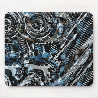 Abstract V-Twin Mouse Pad