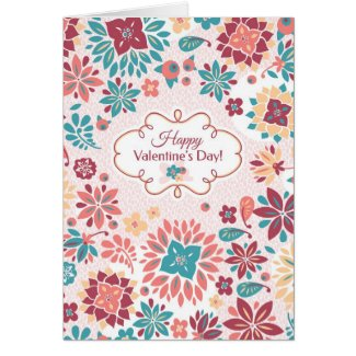 Abstract Valentine's Day Floral Card