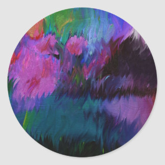 abstract vanity classic round sticker