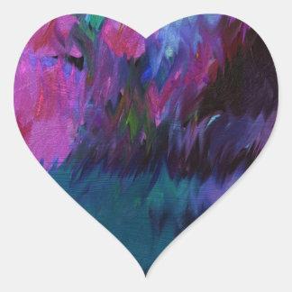 abstract vanity heart sticker