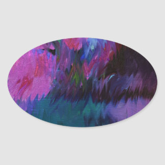 abstract vanity oval sticker
