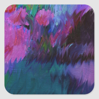 abstract vanity square sticker