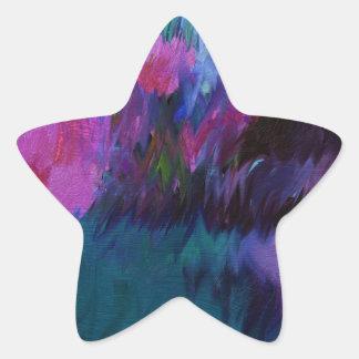 abstract vanity star sticker