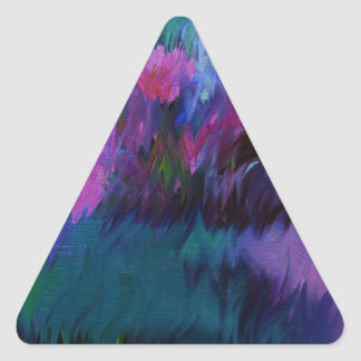 abstract vanity triangle sticker
