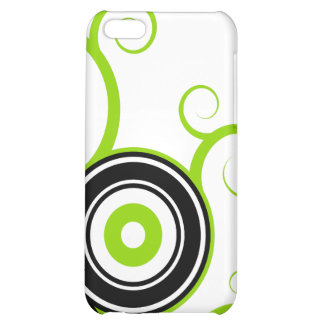 Abstract vector street iPhone Lime Black Cover For iPhone 5C