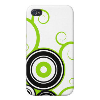 Abstract vector street iPhone Lime Black Case For iPhone 4