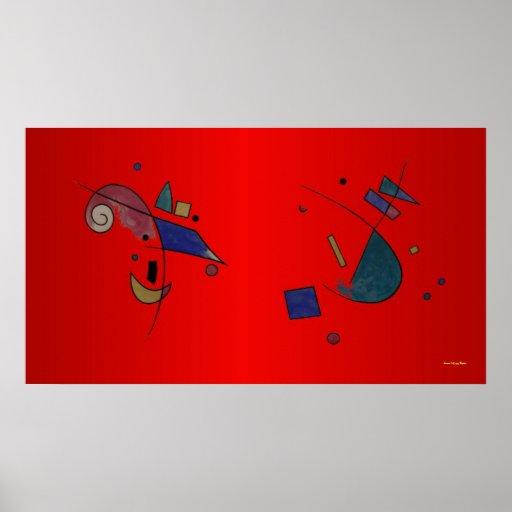 Abstract Verdi Poster