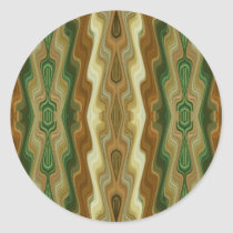 Abstract Vertical Striped Pattern Classic Round Sticker