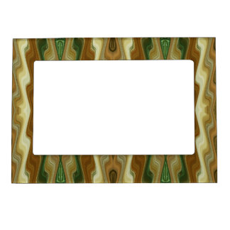 Abstract Vertical Striped Pattern Magnetic Picture Frames