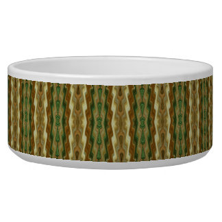 Abstract Vertical Striped Pattern Dog Bowls