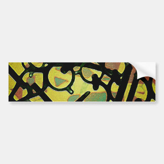 Abstract Vibrant Artwork Bumper Sticker
