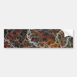 Abstract vibrant colorful fractal wires bumper sticker
