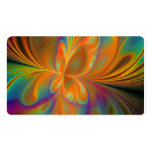 Abstract Vibrant Fractal Butterfly Business Card Template