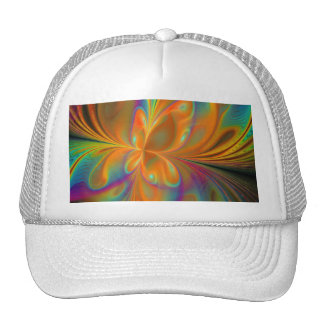 Abstract Vibrant Fractal Butterfly Trucker Hat