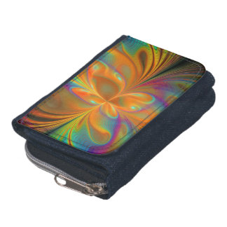 Abstract Vibrant Fractal Butterfly Wallets