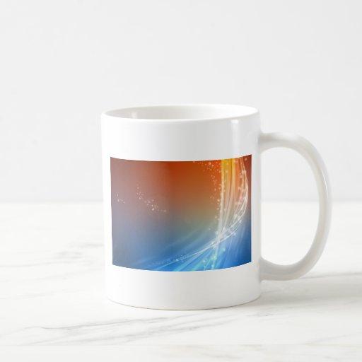 Abstract Vibrant Hot and Cold Coffee Mug