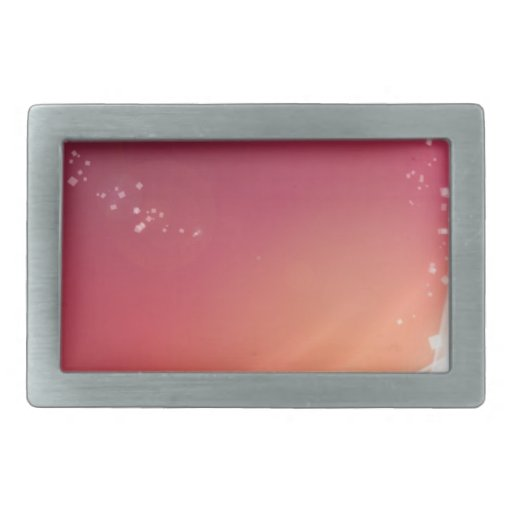 Abstract Vibrant Pink with White Lines Rectangular Belt Buckles