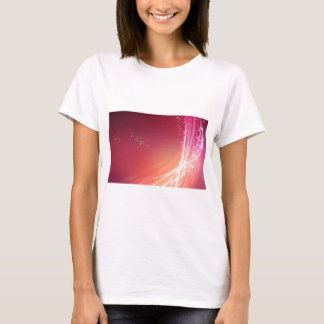 Abstract Vibrant Pink with White Lines T-Shirt
