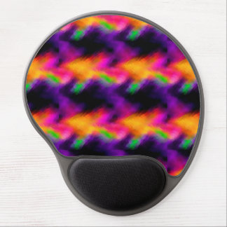 Abstract Vibrant Purple Distortions 3 Gel Mousepad