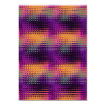 Abstract Vibrant Purple Distortions 6 5x7 Paper Invitation Card