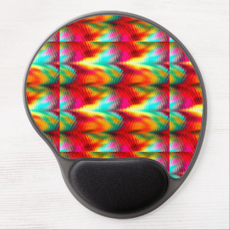 Abstract Vibrant Tropical Distortions 1 Gel Mousepads