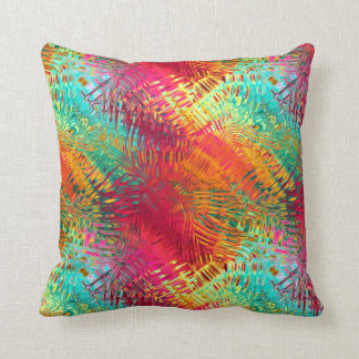 Abstract Vibrant Tropical Distortions 9 Throw Pillow