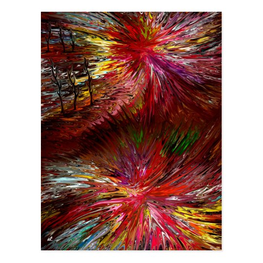 Abstract view postcard