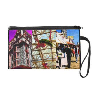 ABSTRACT VIEWS OF AC BOARDWALK WRISTLET PURSE