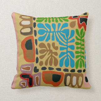 Abstract Village, South American Throw Pillow