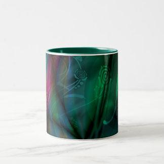 Abstract Vines Two-Tone Coffee Mug