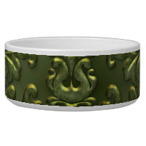 Abstract Vintage Aluminum Pattern Bowl