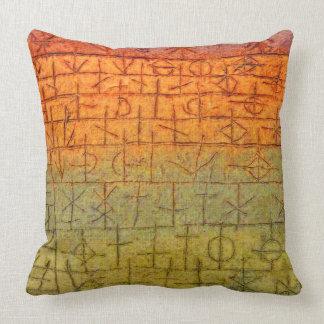 Abstract Vintage Art ~ The Tree Nursery Throw Pillow