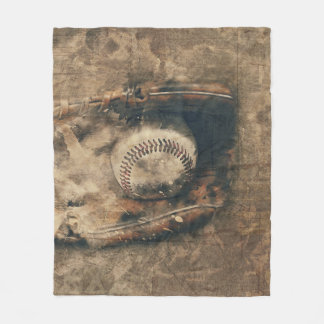 Abstract Vintage Baseball Fleece Blanket