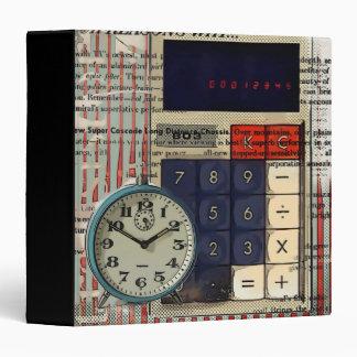 Abstract vintage calculator retro electronics binder