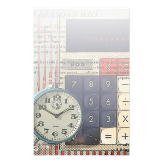 Abstract vintage calculator retro electronics customized stationery