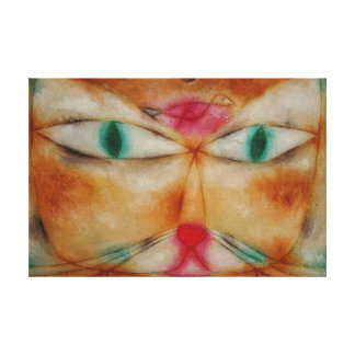 Abstract Vintage Cat Canvas Print