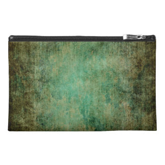 abstract vintage grunge dark green texture travel accessory bag