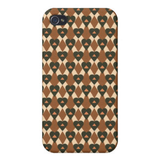 Abstract Vintage Hearts iPhone 4/4S Case