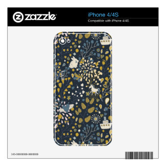 Abstract vintage pattern decals for iPhone 4