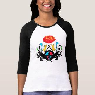 ை♠ Abstract Vintage Patterns 3/4 Sleeve Raglan T♠ை T-shirt