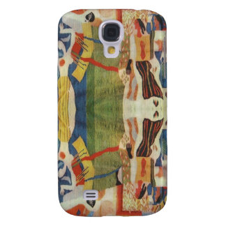 Abstract Vintage Romanian embroideryr Samsung Galaxy S4 Cases