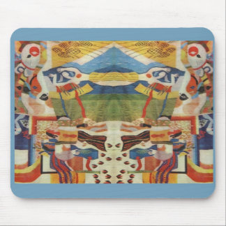 Abstract Vintage Romanian embroideryr Mouse Pads