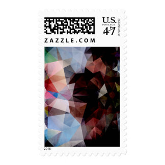 Abstract Vintage Triangles Postage Stamp
