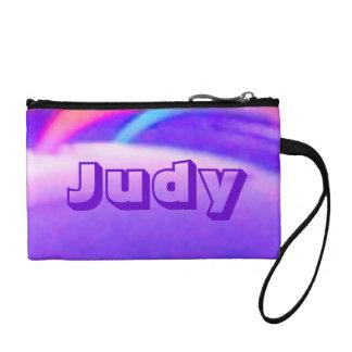 Abstract Violet Bagettes Bag Key Coin Clutch Bag